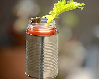 Medium Hobo Tin Can Drink Holder/ Wine Bottle Holder