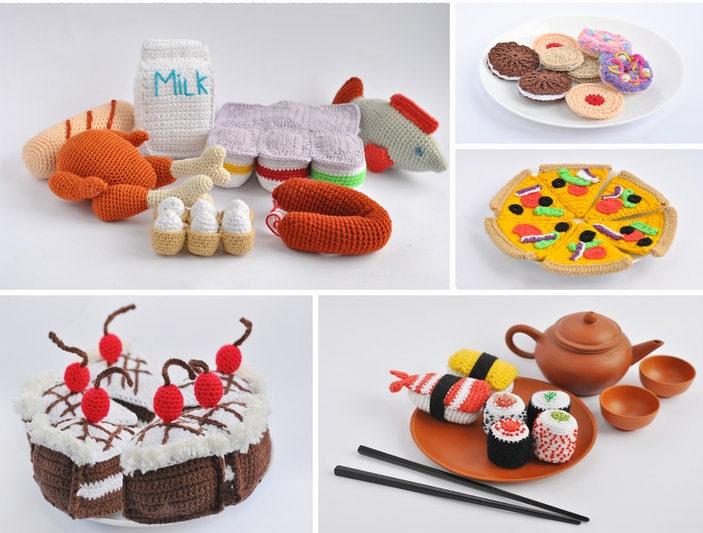Amigurumi Pattern. 70+ Crochet Play Food Patterns. Crochet Toy ...