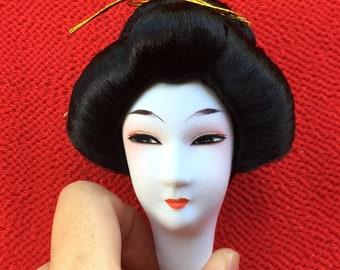 Japanese Doll Head - Vintage Doll Head - Femal Doll Head - Woman Doll Head -  (D16-19)