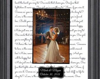 Unframed First Dance Wedding Gift Wedding Song Lyrics