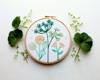 Beginner embroidery etsy spring wild flower embroidery stitch sampler beginner embroidery kit home decordiy craft dt1010fo