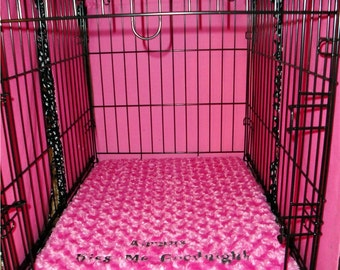 "Dog Crate Pad  - Dog Bed - 3""  Memory Foam  -  Dogs - Large Dog Sizes - Pets - Includes Embroidered Personalization"