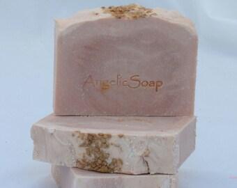 Pitta Rose Water Ayurvedic Cleanser High Performance Bar for Sensitive Skin Handcrafted Organic Artisan Soap Essential Oil Rosewater Formula