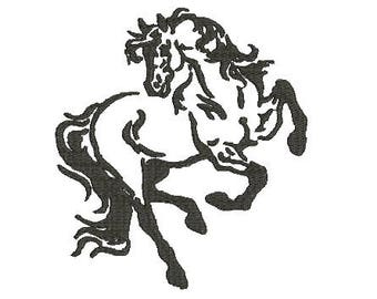 horse design machine embroidery design