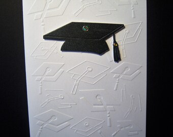 Embossed Graduation Caps Card