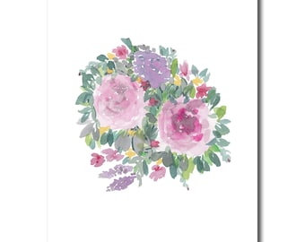 Flowers, spring, summer, birthday gift, gift for mom, digital file, instant download, pink, bouquet
