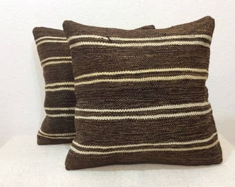 "Kilim pillow cover 16""x16"" 40x40cm,Old kilim,Vintage,Turkish kilim,Handmade,Handwoven,Children's room,Home Decor,Turkey"
