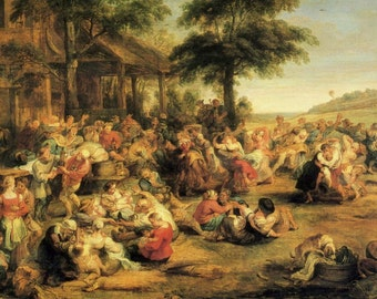 The Kermesse (Marketplace) by Peter Paul Rubens - an Original, Vintage 1954 Frameable Art Print
