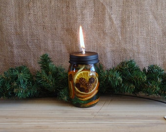 mason jar light, oil lamp, oil candle, Emergency prep, Unscented Candles rustic cottage lodge cabin holiday decor, outdoor lighting supplies