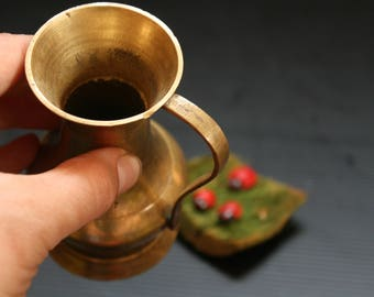 Brass pitcher, Vintage brass vase, Brass vase, Old brass vase, Brass Decor, Antique Vase, Brass Flower vase, Ornate vase, Brass flowerpot,