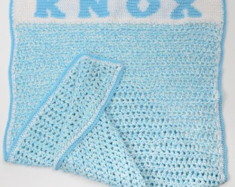 Customized baby blanket with matching booties