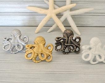 One Octopus Drawer Knob. Octopus Knob. Octopus Handle. Cabinet Knob.  Dresser Knob