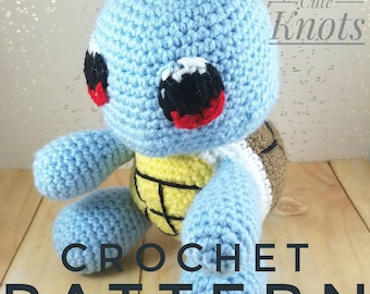 Amigurumi Squirtle Pattern - Crochet Squirtle Pattern - Pokemon Crochet Pattern