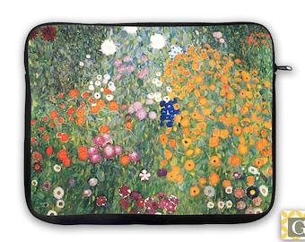 Flower Garden Designer iPad Case, Laptop Bag, Laptop Sleeve, Laptop Case, iPad Sleeve, MacBook Case, Tablet - Flower Garden Klimt