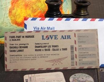 Wedding invitation - Travel - x10