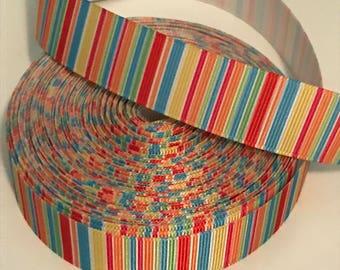 Striped ribbon - wholesale supplies - colorful ribbon - grosgrain ribbon - hairbow making supplies - craft supplies