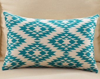 100% Cotton And Linen Bohemian Geometric Print Cotton And Linen Cushion Cover