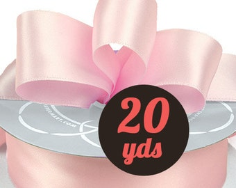 "Satin Pink Ice Ribbon - 7/8"" wide at 20 yards"