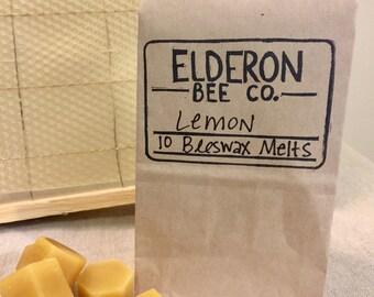 beeswax melts // 100% natural // handmade // lemon // wax melts // aromatherapy