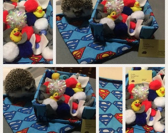 Super Hero Dig Box and Cuddle Pouch Set