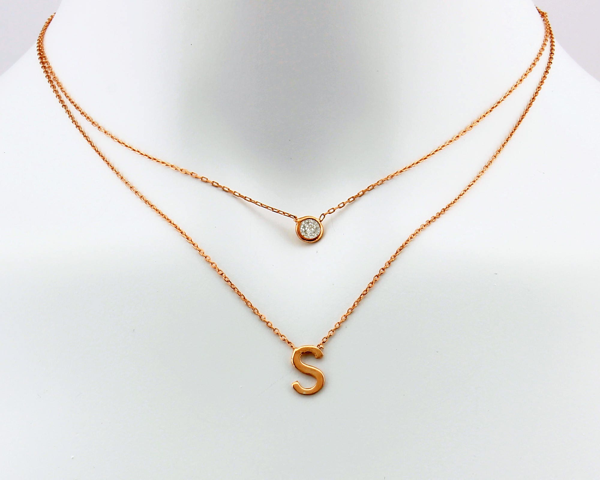 Personalized necklace initial necklace layered necklace personalized necklace initial necklace layered necklace birthstone necklace multi strand best selling items best selling double chain aloadofball Image collections