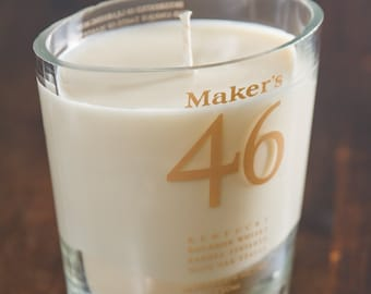 Maker's 46 Whiskey Bottle Candle