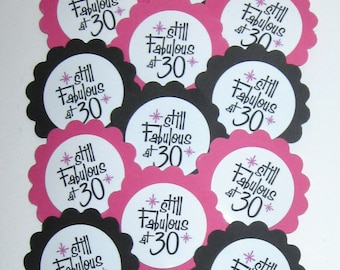 30th Birthday Cupcake Toppers/Party picks Item #1719
