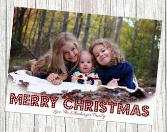 DIY Print Yourself One Full Photo Christmas Card