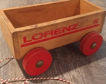 Vintage Child's Wooden Toy Wagon