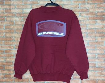 Vintage O'neill Santa Cruz California Spellout Sweatshirt ZwcD0Z