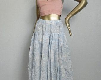 gentle sway ~ blue floral skirt