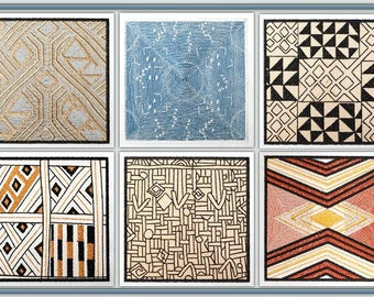 BFC1244 QIH- African Textile Squares II