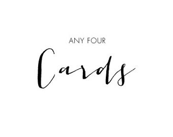 Choose Any Four Cards