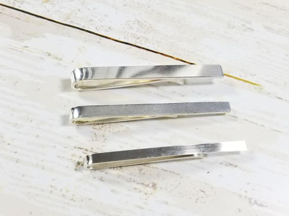Brushed Finish Sterling Silver Tie Bar or Tie Clip