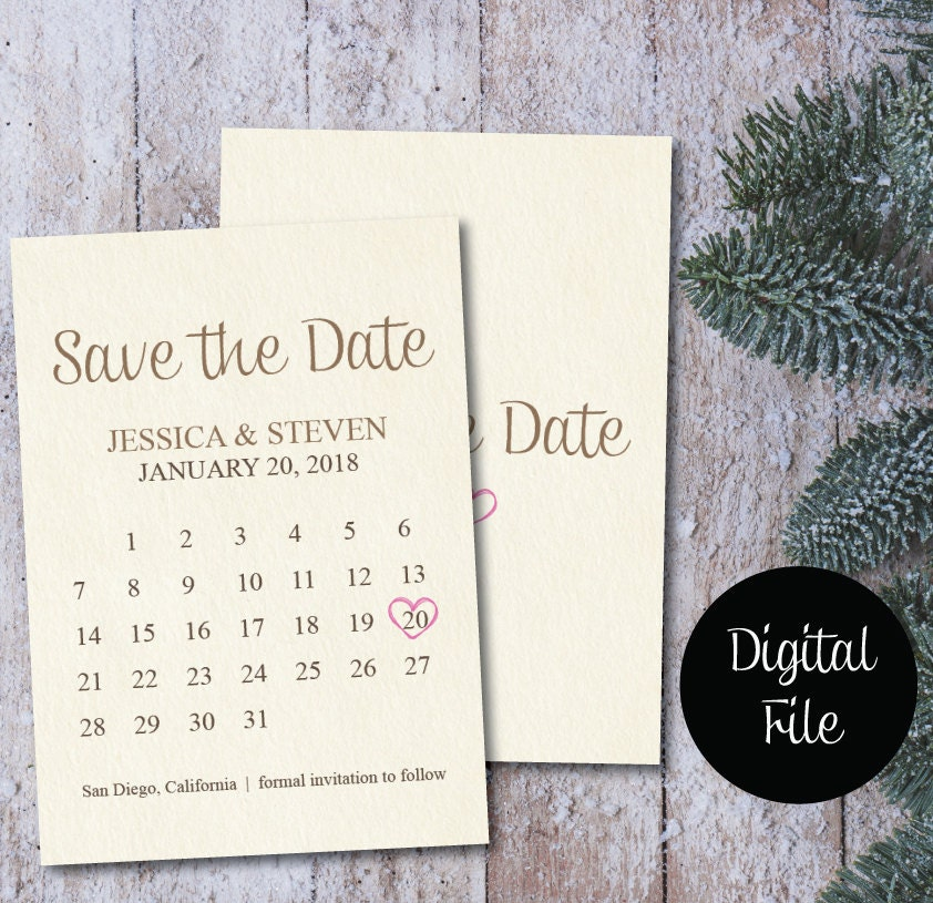 save the date calendar template save the date postcard