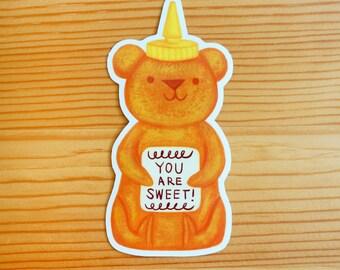 Sweet Honey Bear Vinyl Sticker