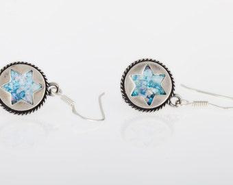 Great Ladies Earrings, 925 Sterling Silver Earrings, Ancient Roman Glass Earrings, Roman Glass Jewelry