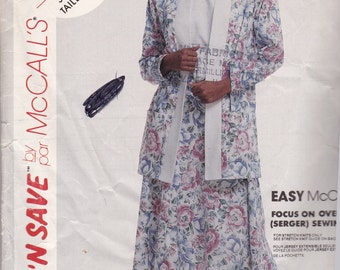 McCalls 4846  Vintage Pattern Womens Cardigan and Full Skirt Size 16,18,20