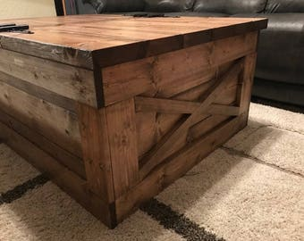 Farmhouse Storage Coffee Table  (Free Shipping)