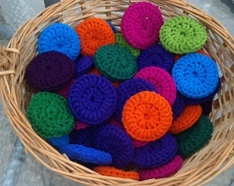 50 Nylon Pot Scrubbys great for veggys too, scrubbers, scrubbie