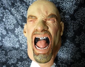 Vintage Goldberg Halloween Mask. WCW WWE Bill Goldberg Wrestling Latex Mask. Rare Wrestling Bill Goldberg WWF Halloween Mask