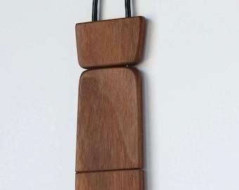 Hand Crafted Wooden Neck Tie - Walnut