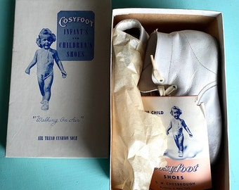 """Vintage Cosyfoot """"Walking On Air"""" Baby Shoes"""