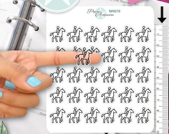 Clear Horse Stickers Riding Stickers Horses Stickers Planner Stickers Erin Condren Functional Stickers Daily Chore Stickers NR678