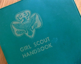 Vintage Girl Scout Handbook, Hardcover with Original Plastic Book Cover, 1959 Edition