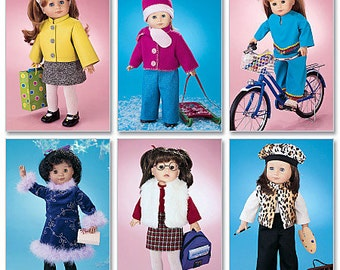 McCalls 3474, 18 in Doll Clothes, American Doll Clothes Sewing Pattern, New Uncut Sewing Pattern