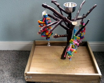 Manzanita Bird Play Toy Gym Stand –Great Unique Features.