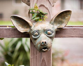 Chihuahua in Brass Verdigris