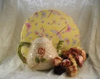 Springtime Tea Cozy Coffee Cozy Butterflies, Dragonflies, Bees Garden Chic