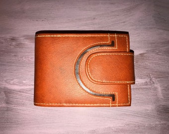 Vintage 70's Deadstock Orange Billfold Wallet